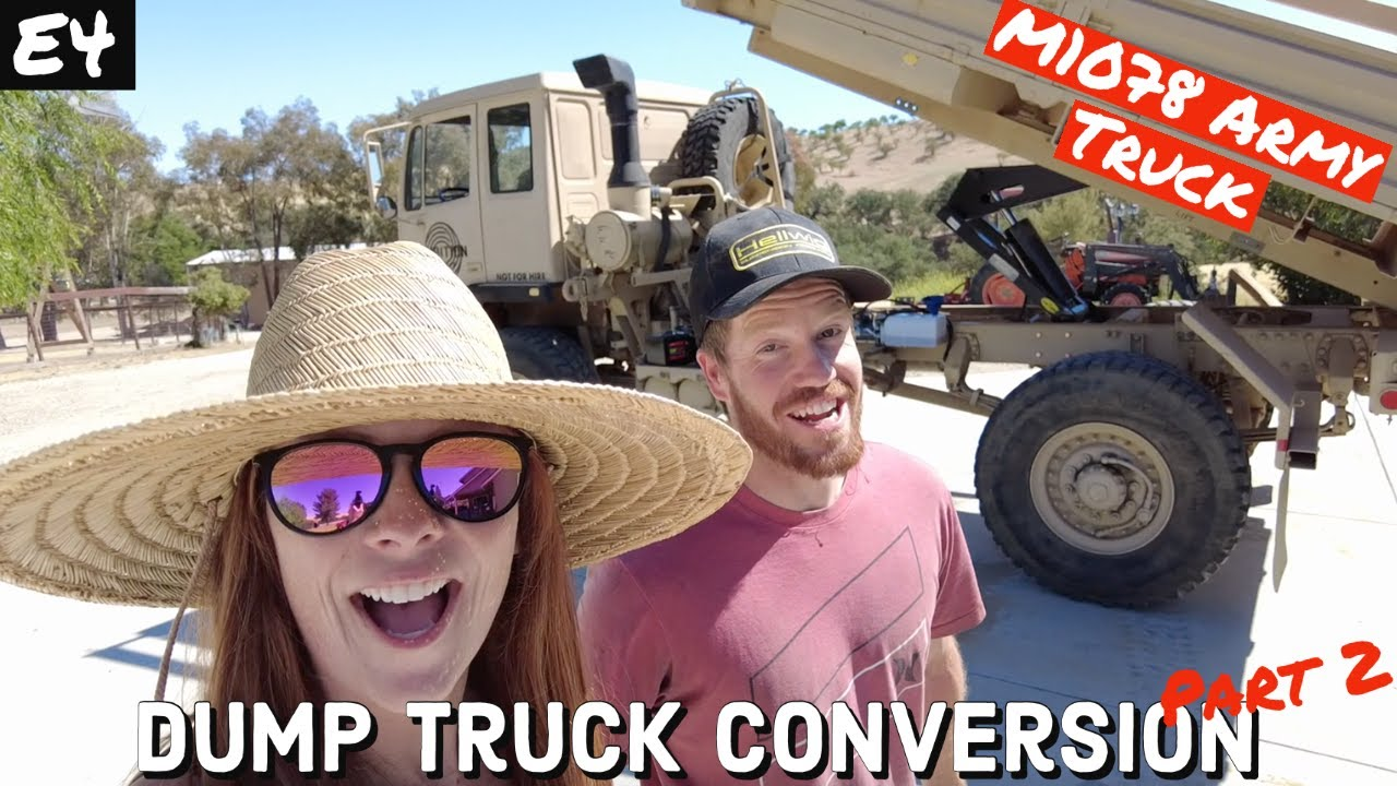 FINISHED | ARMY TRUCK to DUMP TRUCK! P2