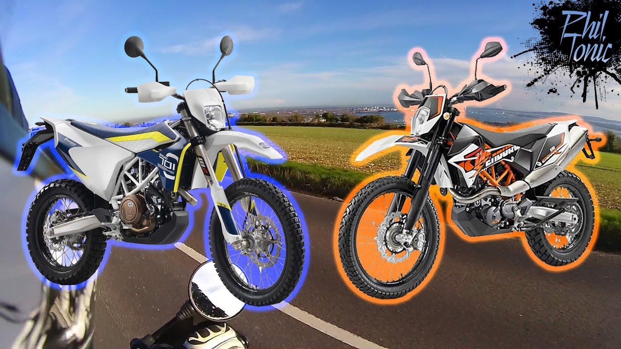 husqvarna 701 oder ktm 690? - youtube