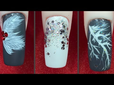 how to  💅🏻 elegant winter nail design 2020 easy nail art