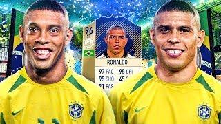 OMG PRIME ICON 96 RONALDO AND DINHO! THE FULL ICON SQUAD! FIFA 18 ULTIMATE TEAM
