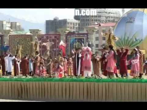 Celebrating Nowrooz in Tajikistan stadium reported by BBC Persian TV