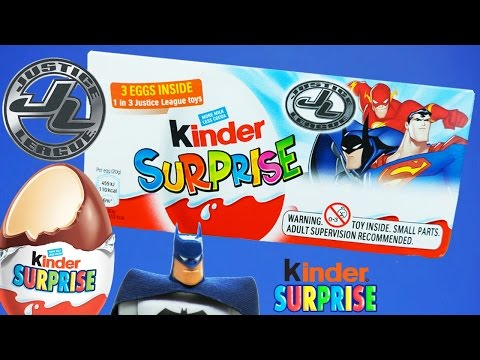 Kinder Surprise Egg - Batman DC Comics Justice League Kinder Chocolate ToyfunTV