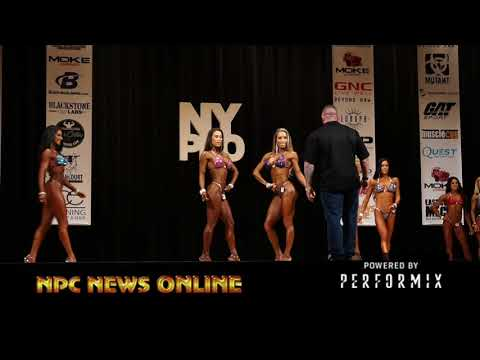 2018 IFBB NY Pro Women's Bikini Prejudging Video