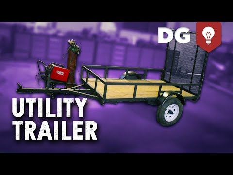 How To Build A DIY Utility Trailer for CHEAP!