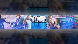 FORTNITE YOUTUBE BANNER TEMPLATE FREE DOWNLOAD LINK | PSD + FONT | #2