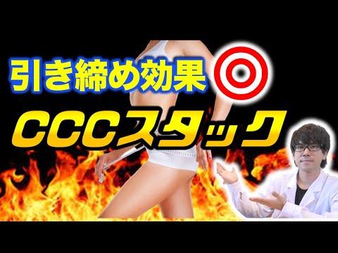 【サプリ組み合わせ】究極の体脂肪燃焼効果!話題のCCCスタックとは?〜論文解説シリーズ〜