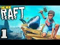 RAFT - Lost at Sea with XBcrafted! - Let's Play Raft Multiplayer Gameplay Part 1 (The New Raft Game)