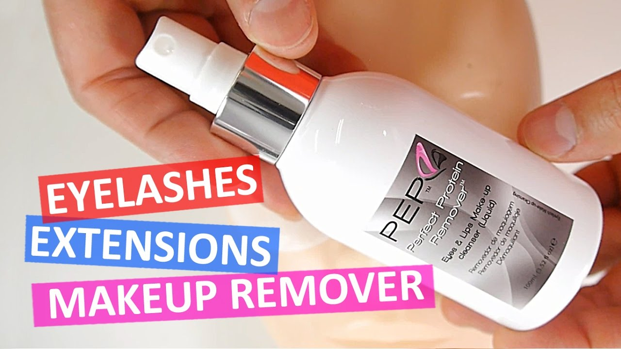 Eye makeup remover eyelash extensions