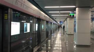 北京京港地鐵14號線 十里河站 月台 (有扶手電梯廣播)