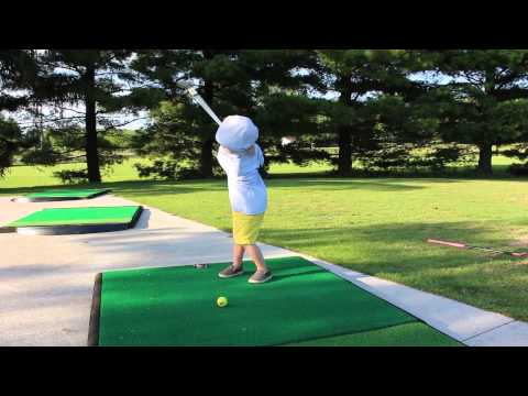2 year old golf swing with adult club youtube. Black Bedroom Furniture Sets. Home Design Ideas