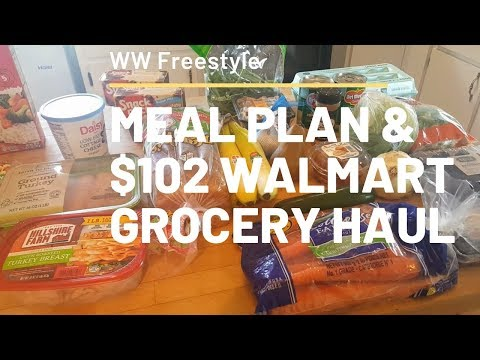 meal-plan-&-$102-walmart-grocery-haul-|-ww-freestyle-|-9.28.19