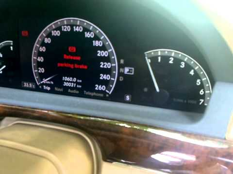 Mercedes S Class Esp Malfunction Appearing And Vanishing
