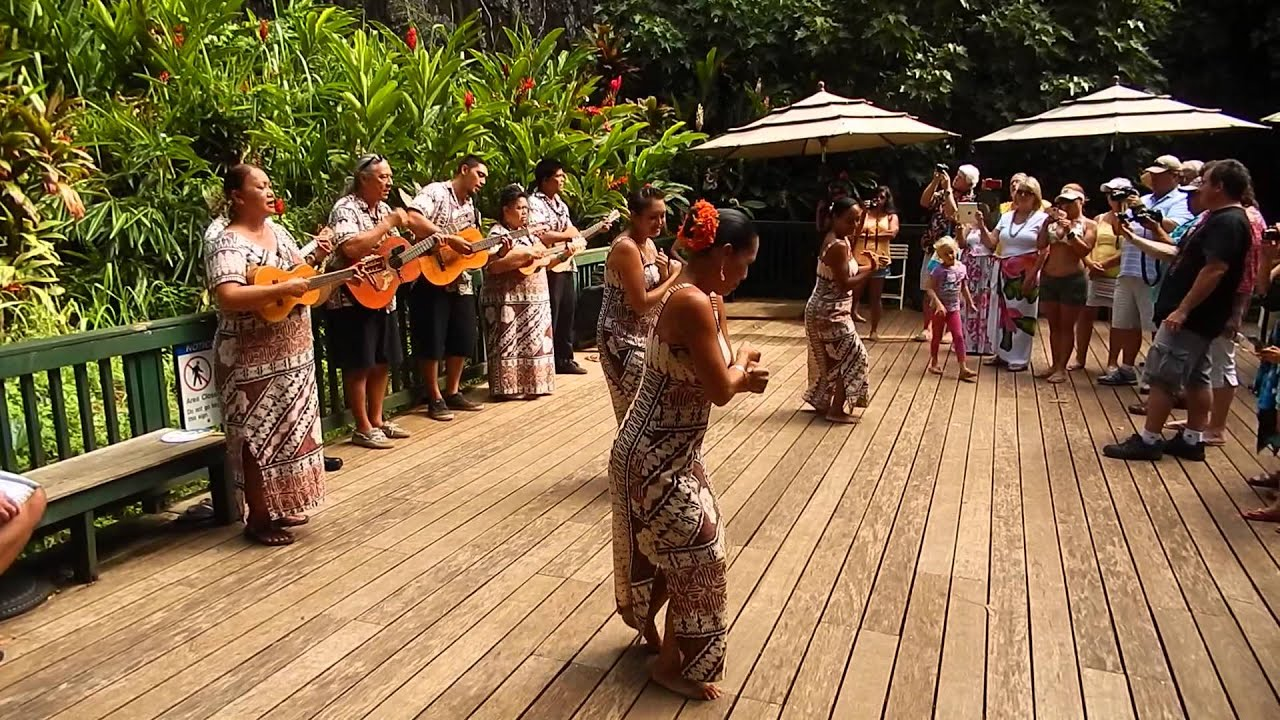 Hawaiian Wedding Dance At Fern Grotto Kauai Hawaii 8 15 2017