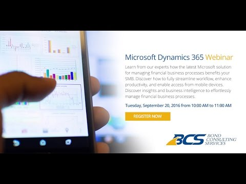 Inside Microsoft Dynamics 365 for Financials Demo + Webinar