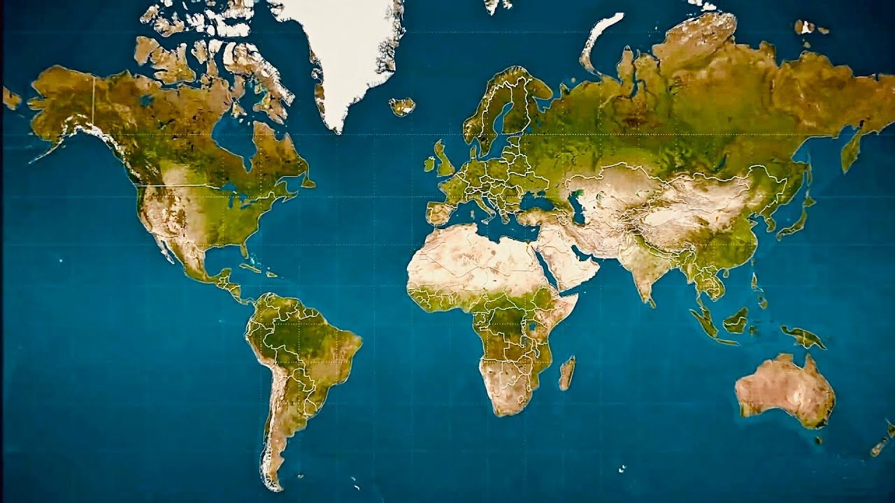 Most Detailed World Map.Most Common World Map Is Wrong Youtube