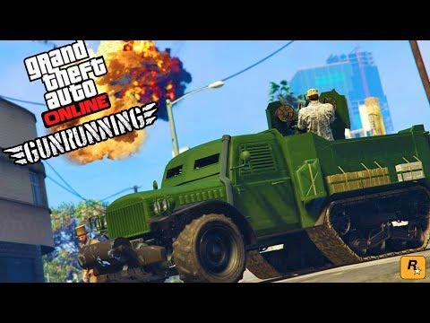 NEW GTA 5 GUNRUNNING DLC HEISTS! -  GTA 5 MILITARY GUN RUNNING DLC HEISTS UPDATE GAMEPLAY