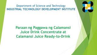 ITDI Webinar on Calamansi Processing screenshot 2