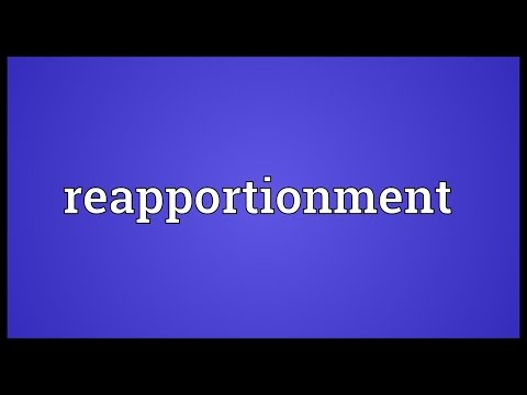 Reapportionment Meaning