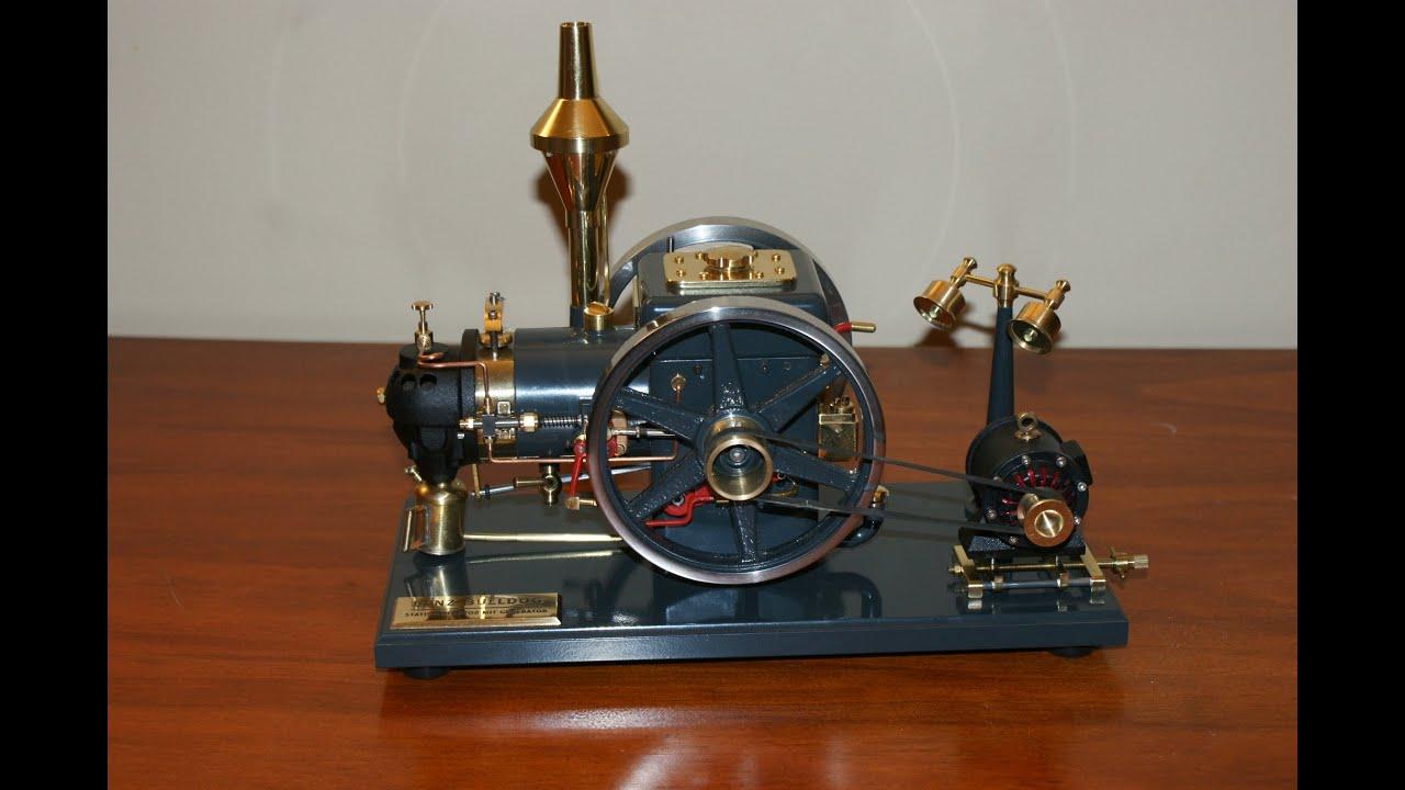 Lanz Bulldog stationary engine with generator (Flame eater) - YouTube