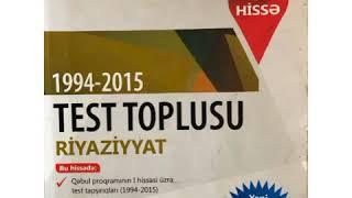 Riyaziyyat 1994 2015 Test Toplusu Dim Natural Ededler Pdf Fakt Tv Youtube