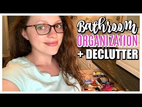 DECLUTTER & ORGANIZE MY BATHROOM | Makeup, Skincare, Perfume