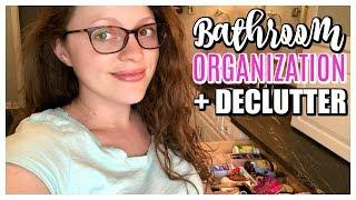 DECLUTTER & ORGANIZE MY BATHROOM   Makeup, Skincare, Perfume
