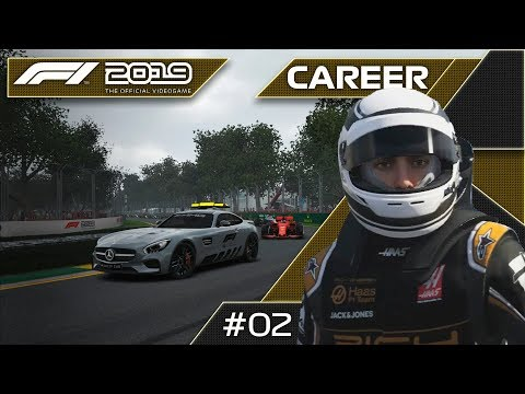 A FantHAAStic DEBUT RACE! F1 2019 Haas Road To Glory Career Mode Season 1 Round 1!