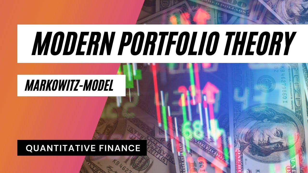 Modern Portfolio Theory Capital Allocation Line Youtube