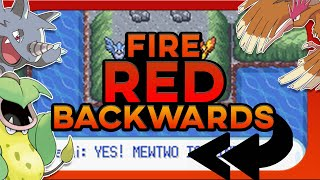 Can You Beat Pokemon Fire Red Backwards ?! (Flare Rom Hack, No items)
