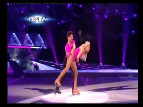 Emily Atack and Fred Palascak skating Week 7