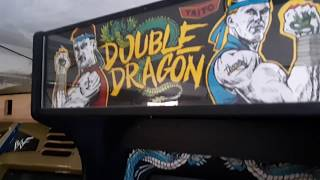 Broken original TAITO Double Dragon arcade cabinet
