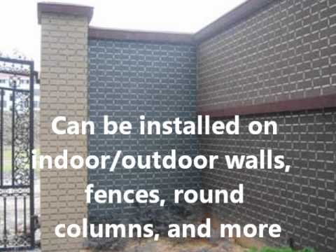 How To Save Money By Covering Walls And Fences As A Brick YouTube