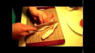 Свинина на косточке с картофелем и фасолью.