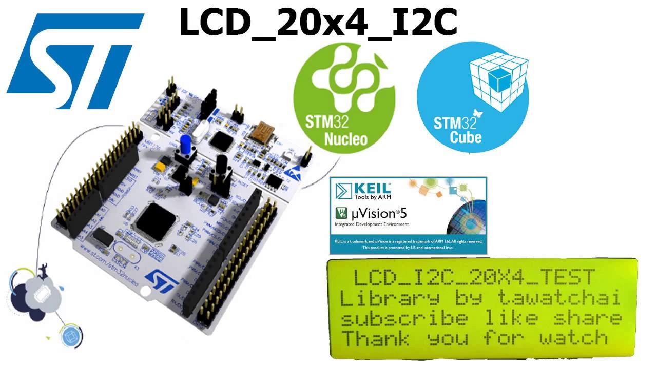 STM32 Nucleo - l053r8 LCD_20x4 I2C PCA8574AT