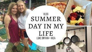 Summer Day in My Life Vlog: Luke Bryan Concert + Ikea Trip (+ haul)
