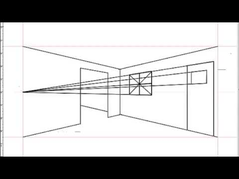 How To Draw An Interior Space Using Two Point Perspective   YouTube Part 40
