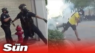 Cops laugh and brag about shooting BLM protesters with rubber bullets