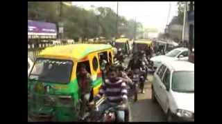 Traffic chaos in Ghaziabad