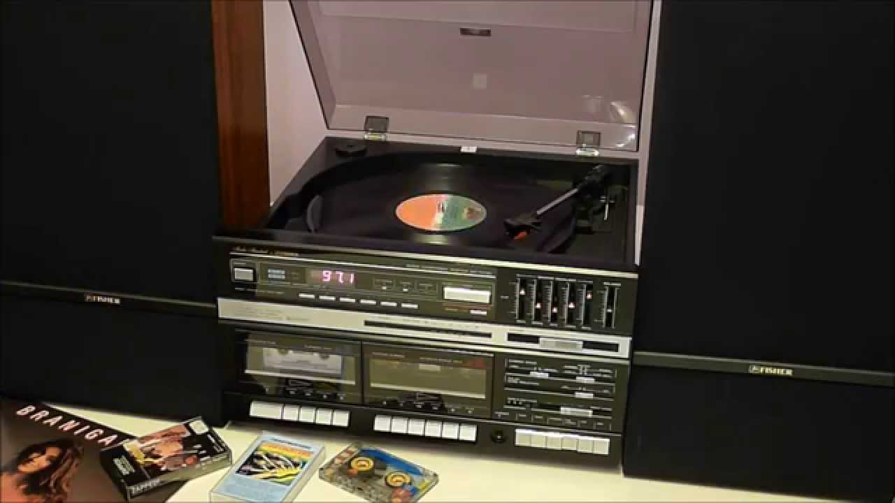 Playing 1980s Music On The Fisher Mc 723bk Stereo Youtube