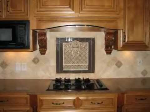 tumbled stone backsplash with elegant medallion youtube