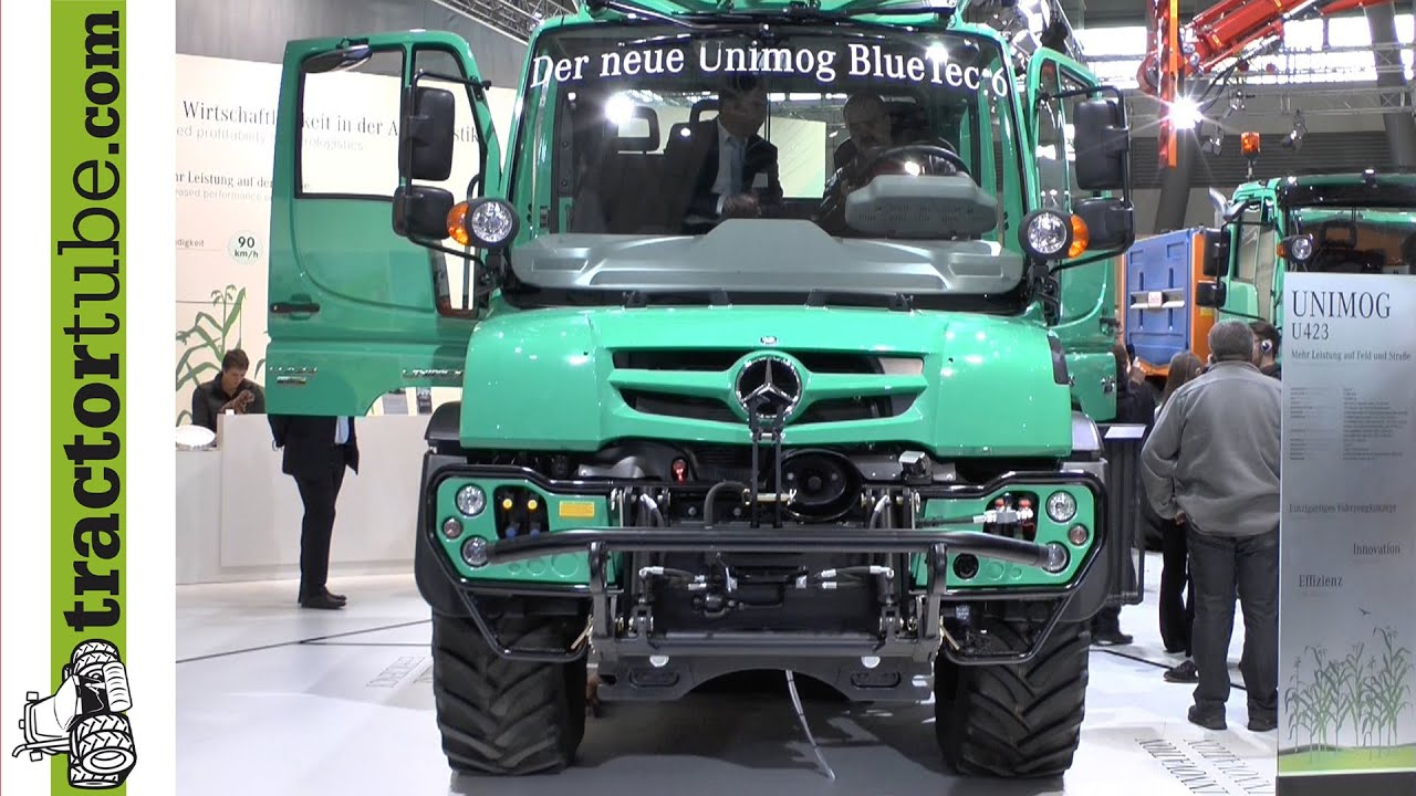 agritechnica 2013 der neue unimog von mercedes benz wird. Black Bedroom Furniture Sets. Home Design Ideas