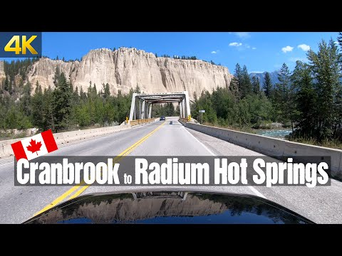 Driving From Cranbrook To Radium Hot Springs   Canada Road Trip In 4K