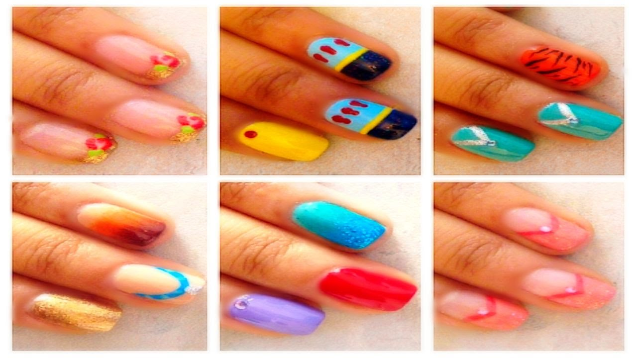 - 7 Easy Disney Princess Nail Art For Beginners - YouTube