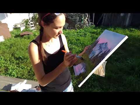 МОЙ ПЕРВЫЙ РАЗ: рисую по уроку Боба Росса с подружкой