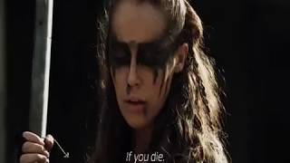 The 100 | Lexa kom Trikru Speaking Trigedasleng (Language of the Grounders) | ALL SCENE