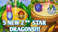 5 NEW 4 ELEMETAL DRAGONS = MY BIGGEST HATCHING EVER!!!  DRAGONS WORLD