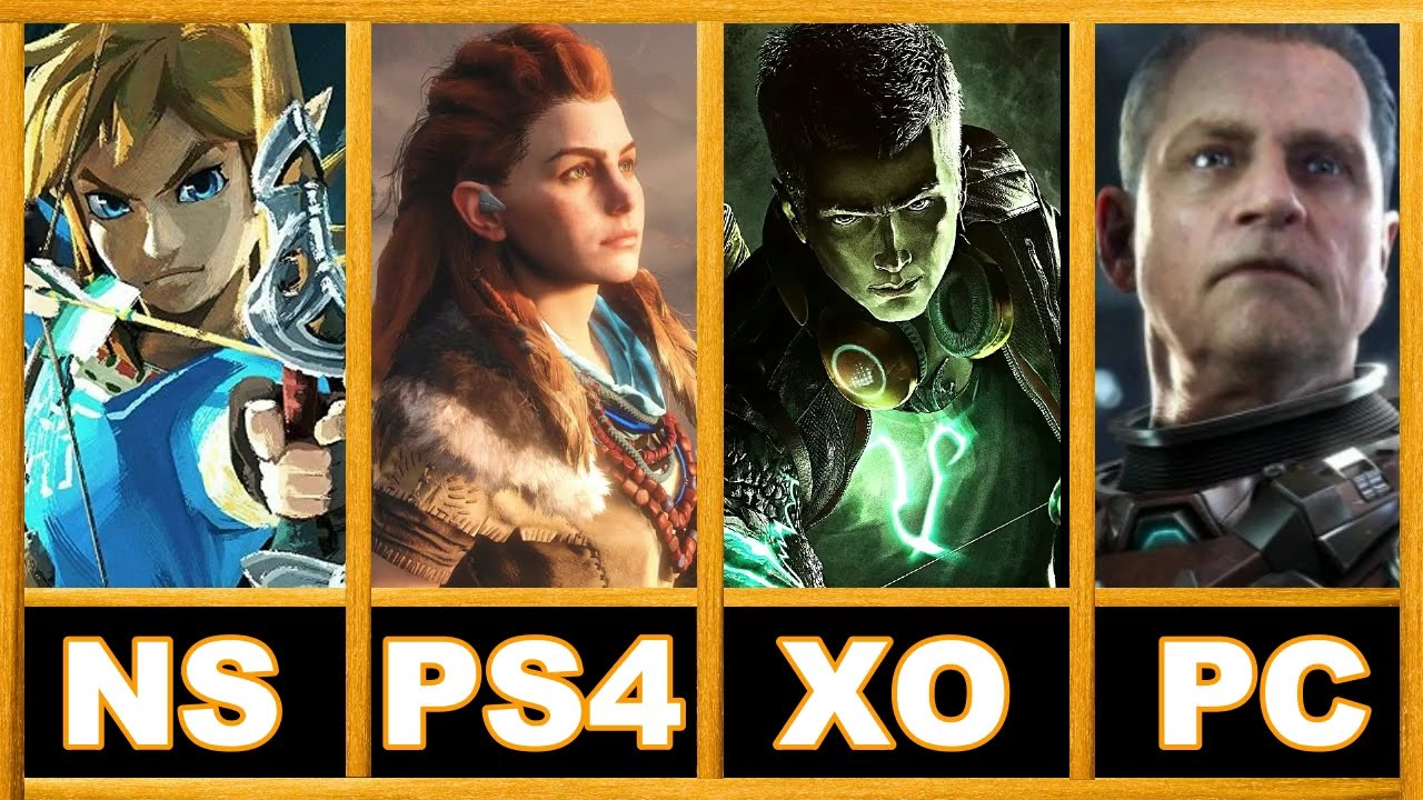 Ps4 Vs Xbox One Vs Nintendo Switch Vs Pc Exclusive Games In 2017 2018 2019 Official Youtube