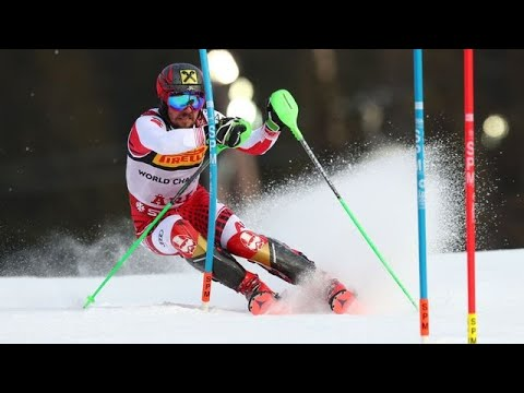 Marcel Hirscher World Champion Slalom ARE 2019 2 round slalom ARE 2019 Men Schwarz Matt
