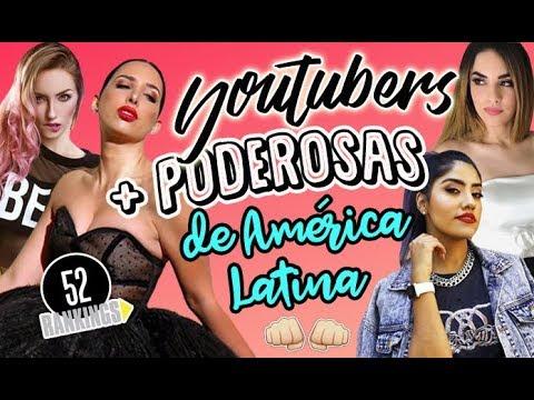 LAS YOUTUBERS MÁS PODEROSAS DE AMÉRICA LATINA - 52 Rankings