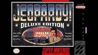 SNES Jeopardy! Deluxe Edition ORIGINAL RUN Game #1